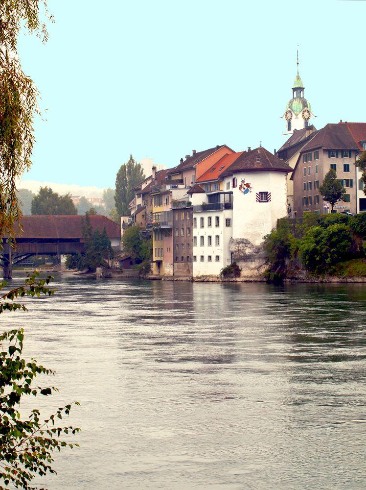 Olten, Aargau, Schweiz, mit Aare