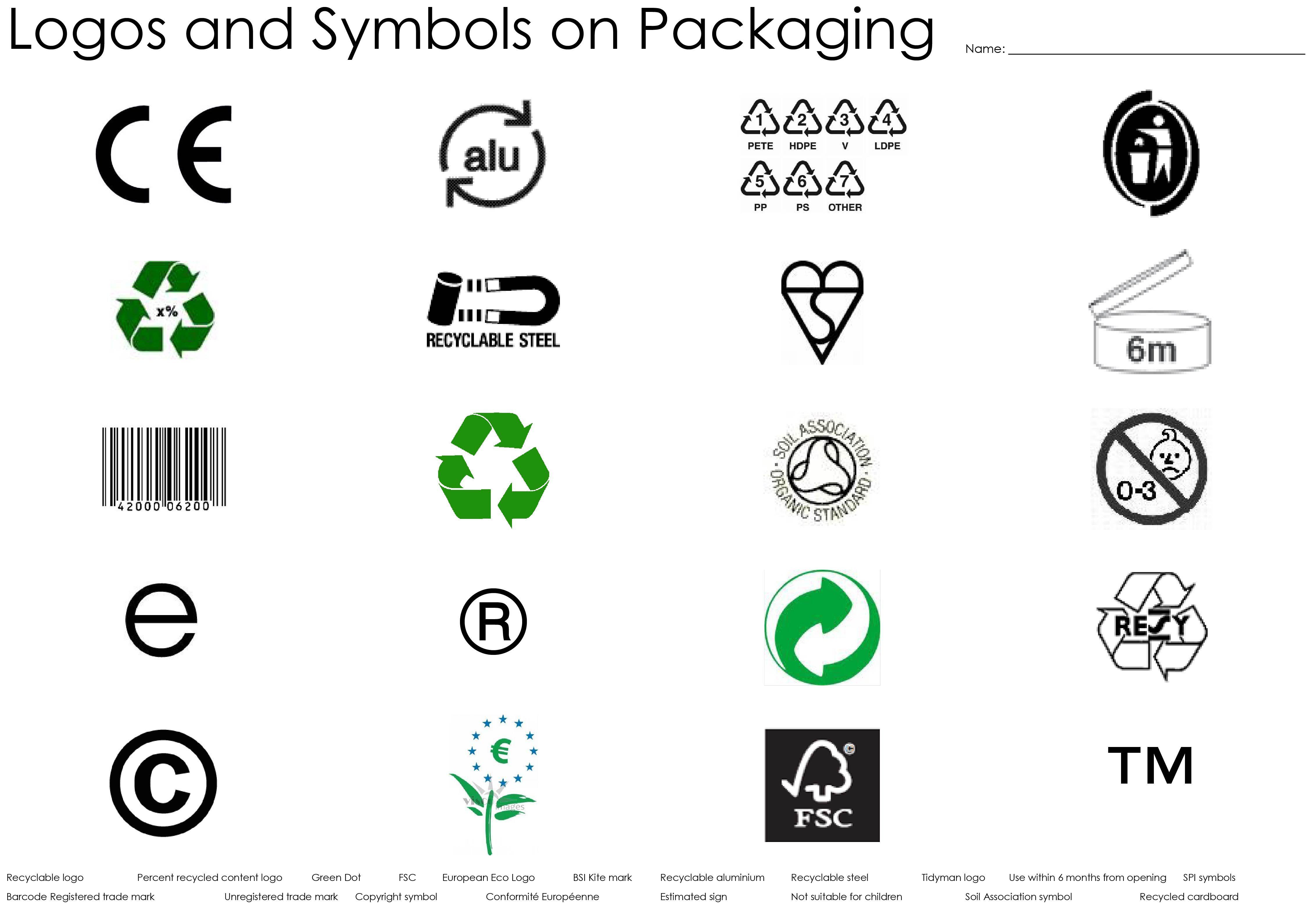 Packaging Logos