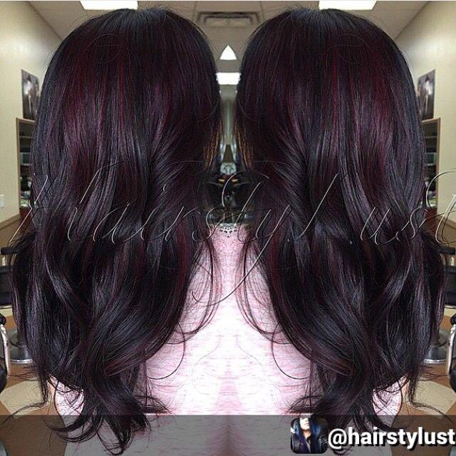 Dark Cherry Merlot Hair Color Black Cherry Hair Color Black Cherry Hair