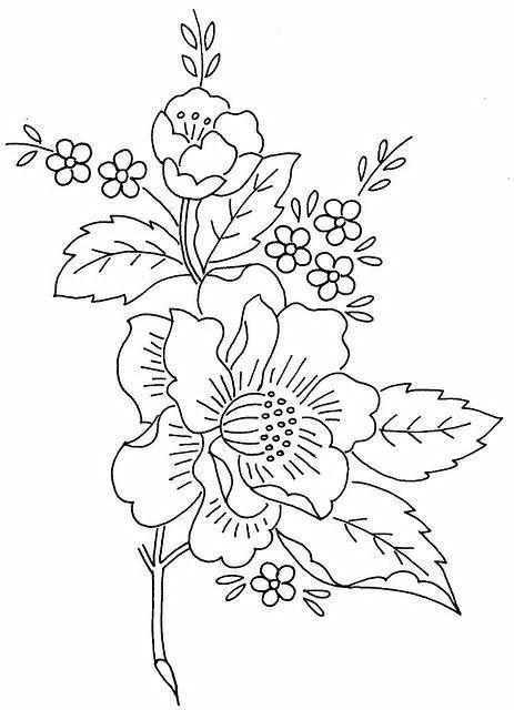 Epingle Par Alina Zych Sur Bordado Wzory Motifs De Broderie Broderie A La Main Coloriage Fleur