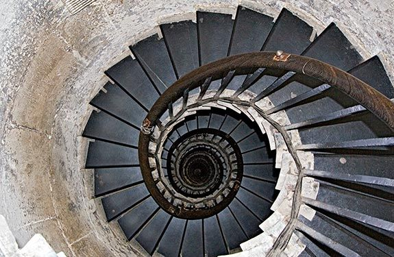 Looking Down The 311 Step Spiral Stairs From The Top Of London S   Spiral Staircase Los Angeles   Old Fashioned   Most Efficient   Double Spiral   Rome   Topanga Canyon