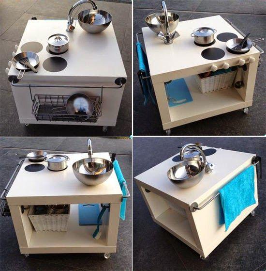 Super Süße Idee Für Eine Kinderküche Die Küche Aus Einem Regal