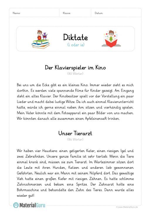 diktat i oder ie unterrichtsmaterialien deutsch unterricht deutsch lernen und deutsch lesen. Black Bedroom Furniture Sets. Home Design Ideas