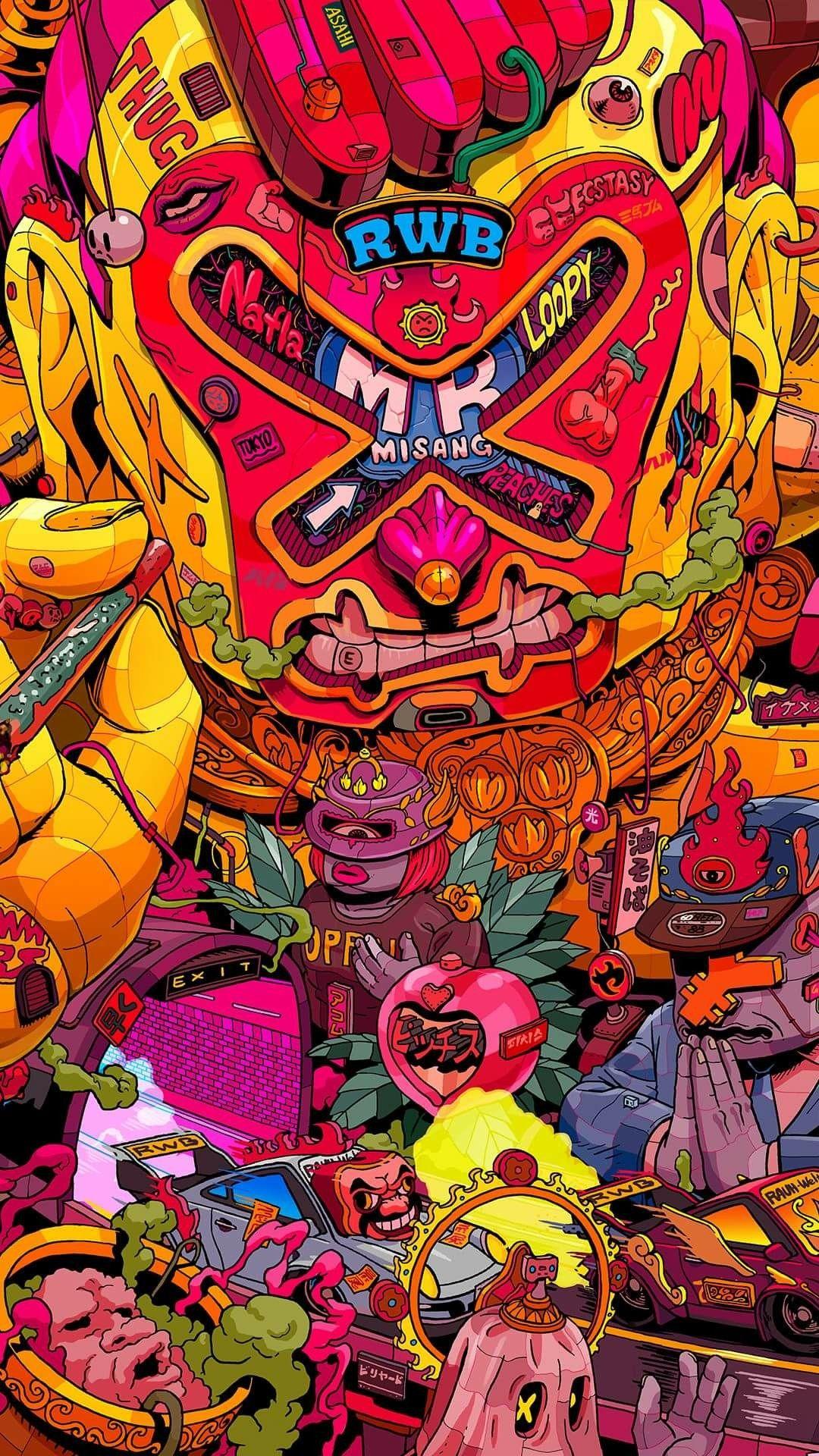  Mr. Misang 2/4    Pop art wallpaper, Japanese pop art ...