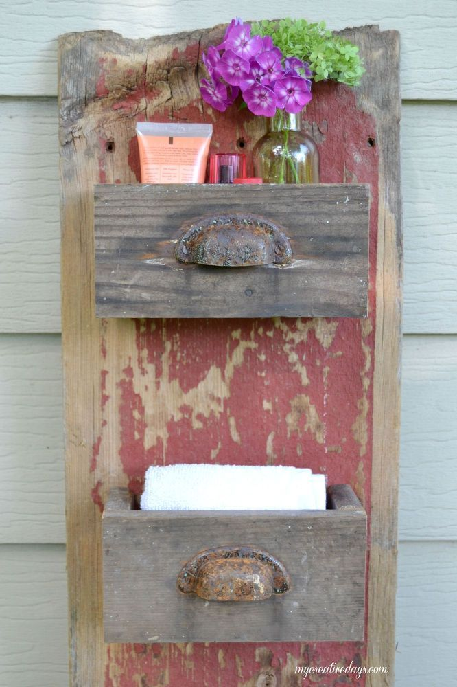 DIY Barn Wood Wall Bin | Old wood projects, Old barn wood ...