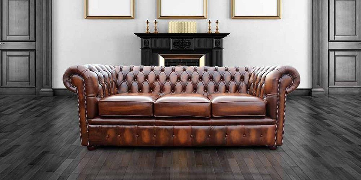 Designersofas4u Buy 3 Seater Tan Leather Chesterfield Leather