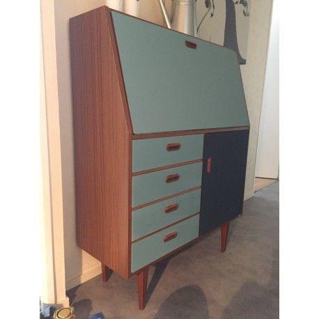 Secretaire Des Annees 70 Vintage Design D Occasion Authentique Annees 70 Vintage Meuble Deco Restaurer Meuble