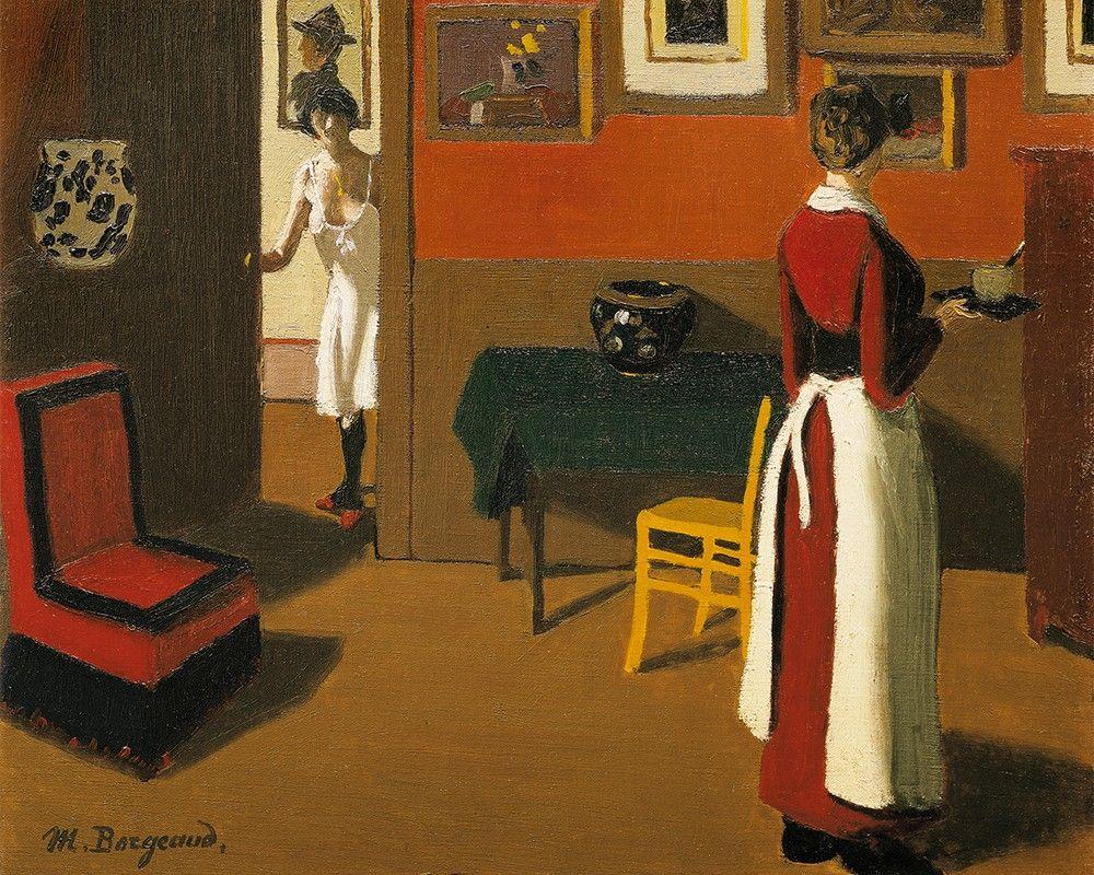 Marius Borgeaud ~ Paris Interior, 1923 ~ (Swiss: 1861-1924)