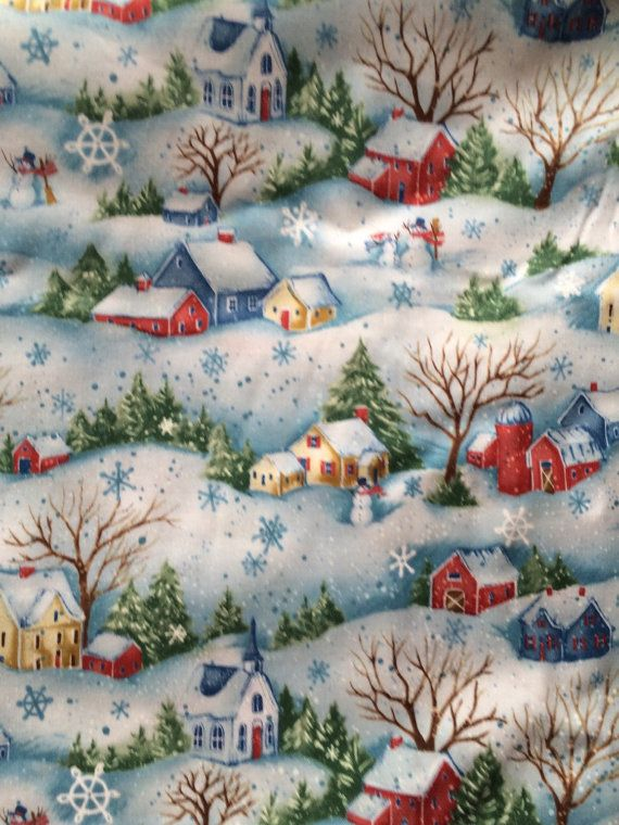 Christmas Fabric By The Yard Snow Show Susan Winget Benartex