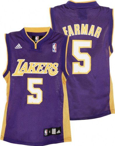 d164e7cbfe5 Jordan Farmar Youth Jersey  adidas Purple Replica  5 Los Angeles Lakers  Jersey Detailed to