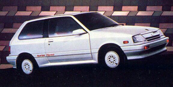 1988 Chevy Sprint Turbo Coches Cuadros