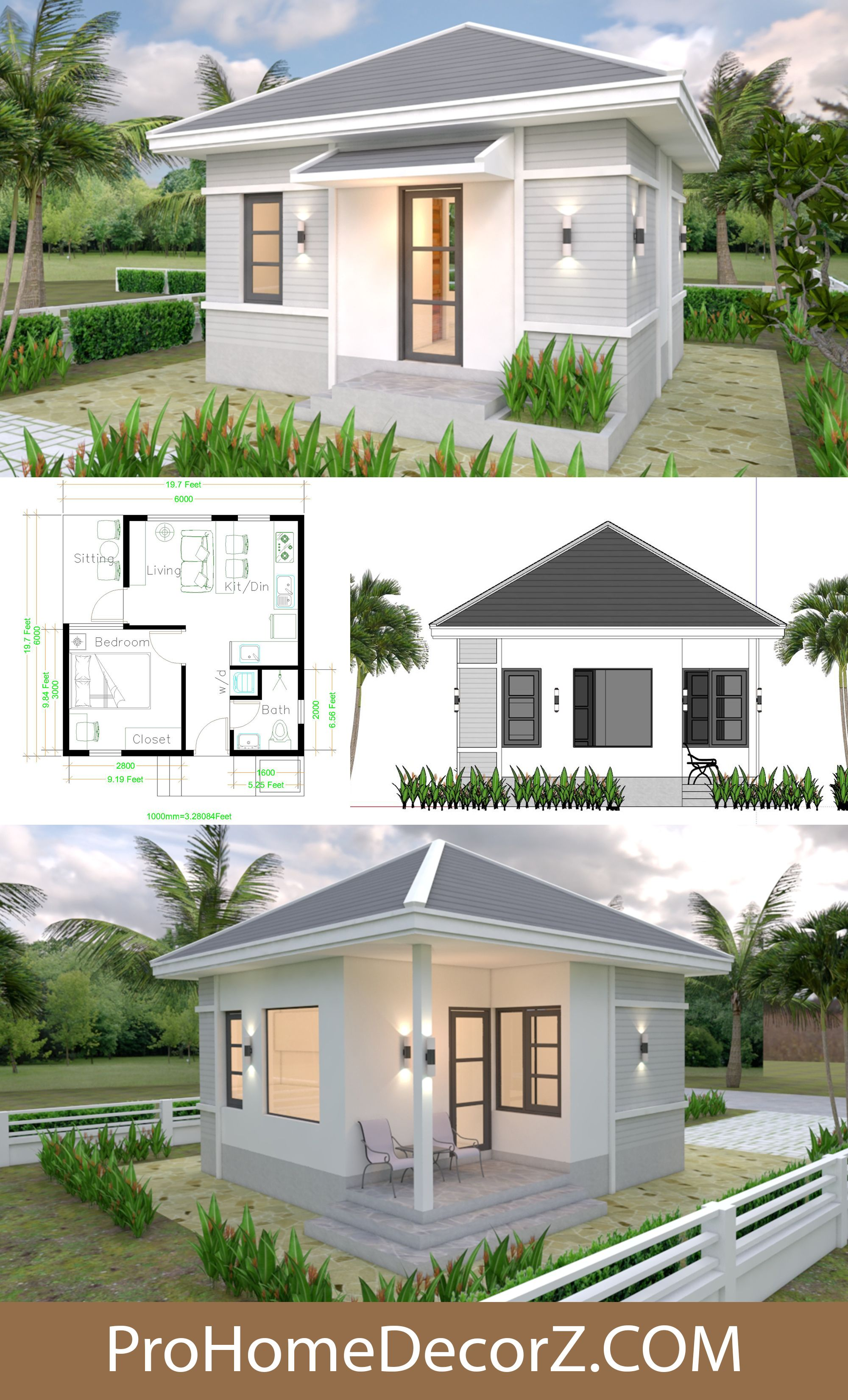Custom Tiny Homes 6x6 With Hip Roof In 2020 Hip Roof Tiny House Small House Design