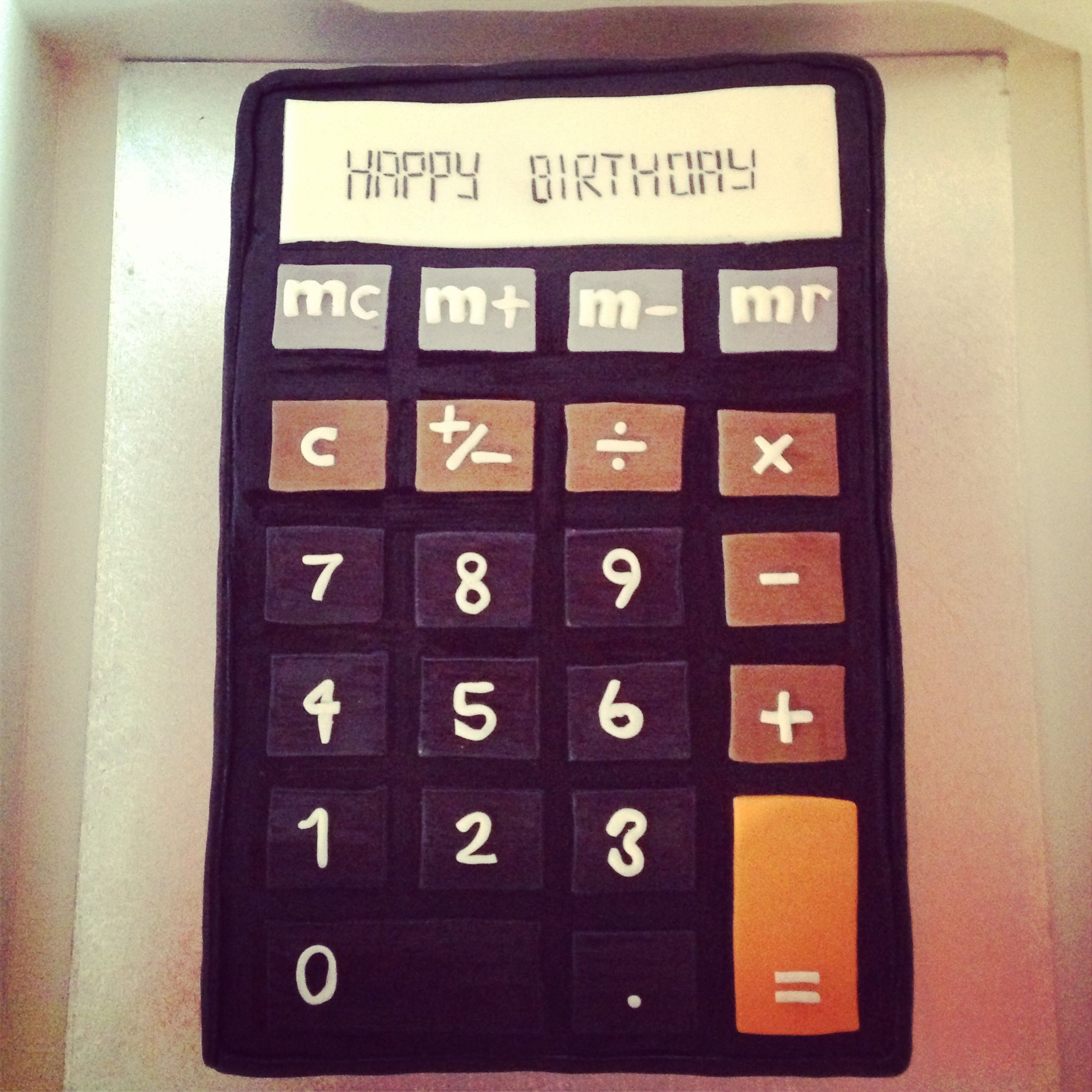 Calculator Cake Choc Vanilla Marble