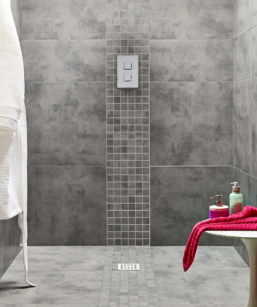 Zamora Grey Wall and Floor Tile 295x595cm Bathroom Ideas