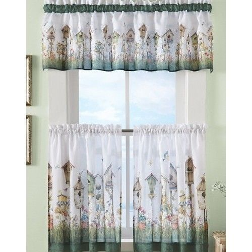 kitchen delicate curtain cafe curtains embroidered flower rose french pin
