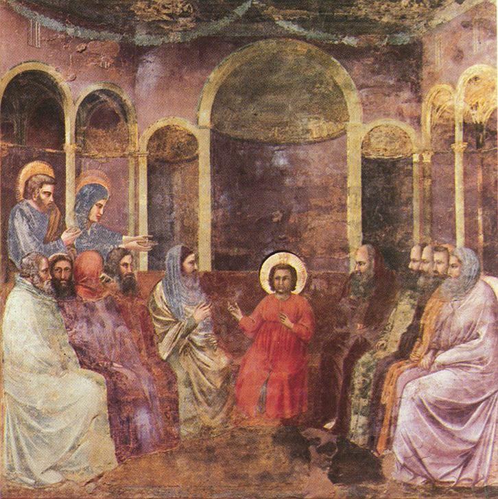 Resultado de imagen para Jesús entre los doctores, Giotto, h. 1302-1305. Padua, Capilla Scrovegni.