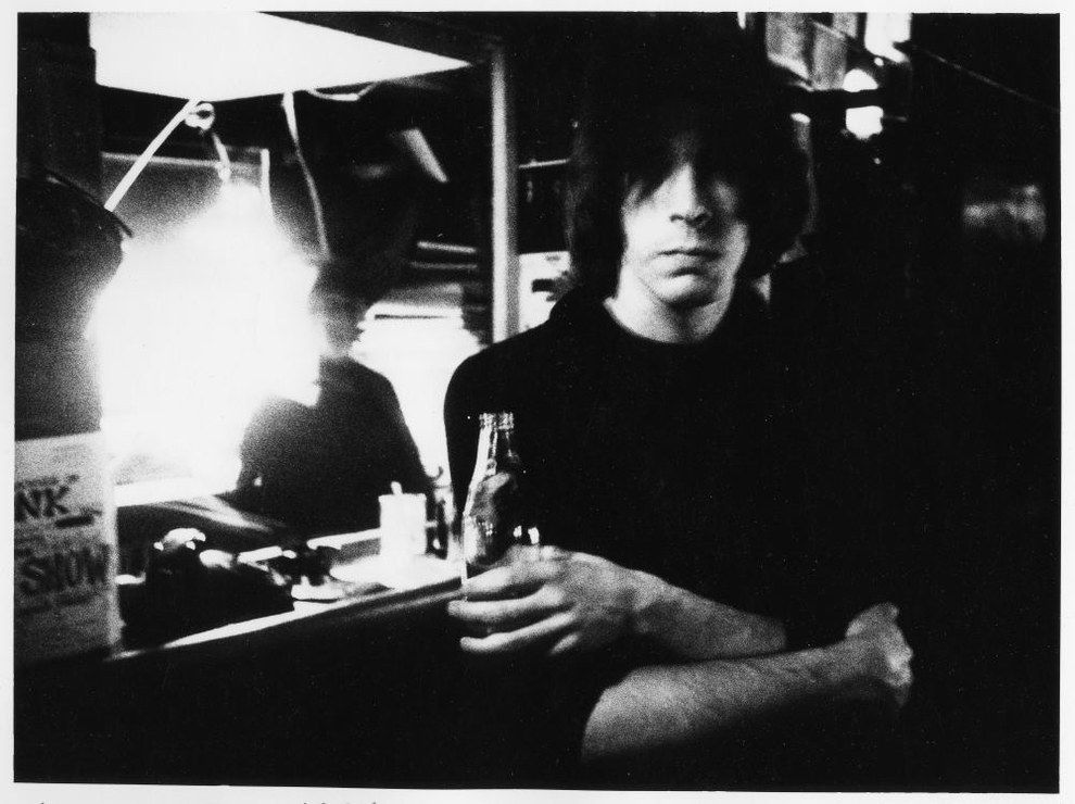 Punk magazine co-founder Legs McNeil enjoying (?) a drink.   17 Awesome Photos That Captured CBGB's Iconic 1970s Punk Scene
