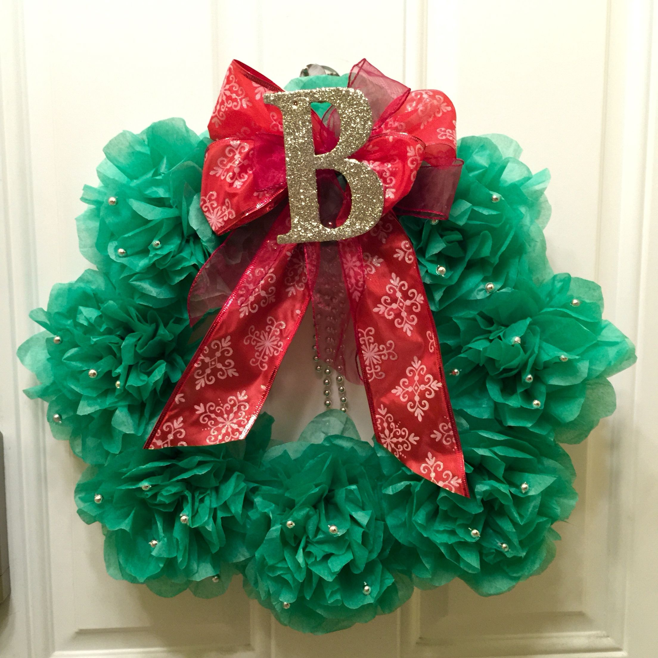 Diy Paper Flower Christmas Wreath