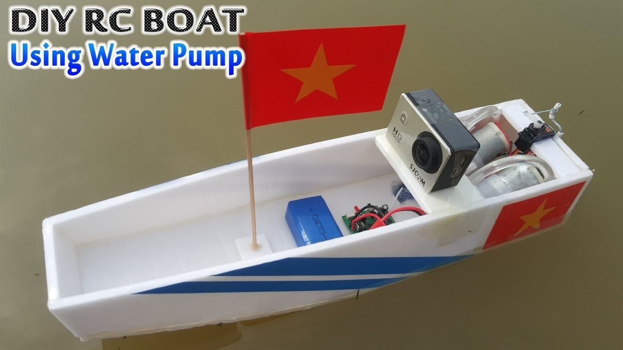 How To Make Rc Boat Using Water Pump Scratch Built Rc