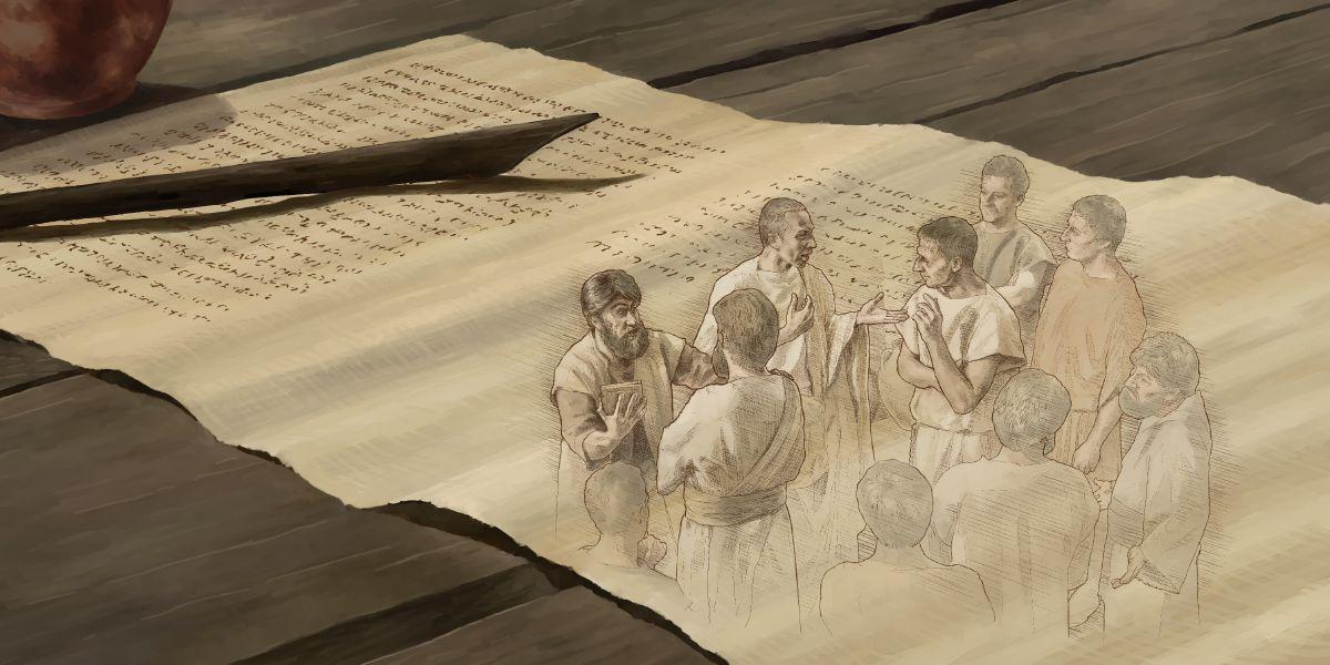 Hermanos De La Congregacion De Colosas Del Primer Siglo Conversan