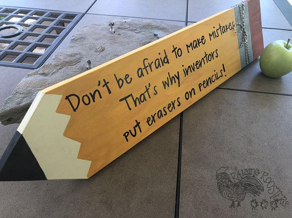Personalized Teacher Pencil Wood Sign Large Wood Pencil Hand