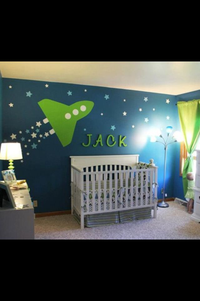 Pin By Megan Clark On Mural Ideas Space Themed Nursery Space Themed Bedroom Space Themed Room