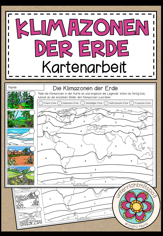 Die Klimazonen der Erde   Kartenarbeit – Unterrichtsmaterial im ...