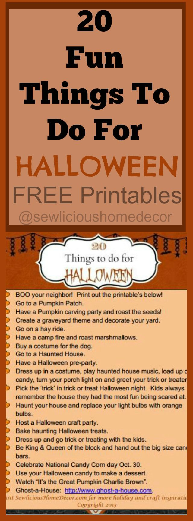 20 things to do for halloween! + free printables! | best of