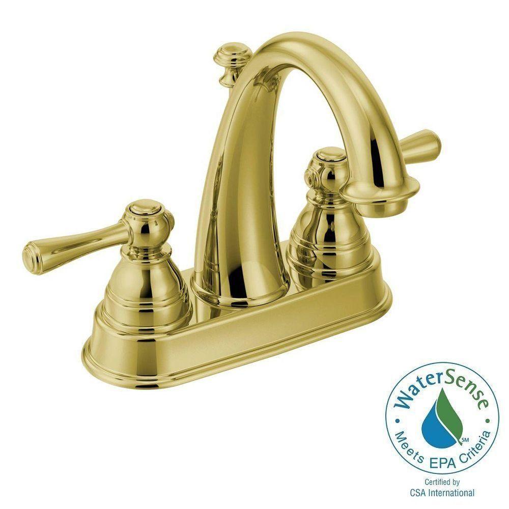 Moen Kingsley 4 In Centerset 2 Handle High Arc Bathroom Faucet In