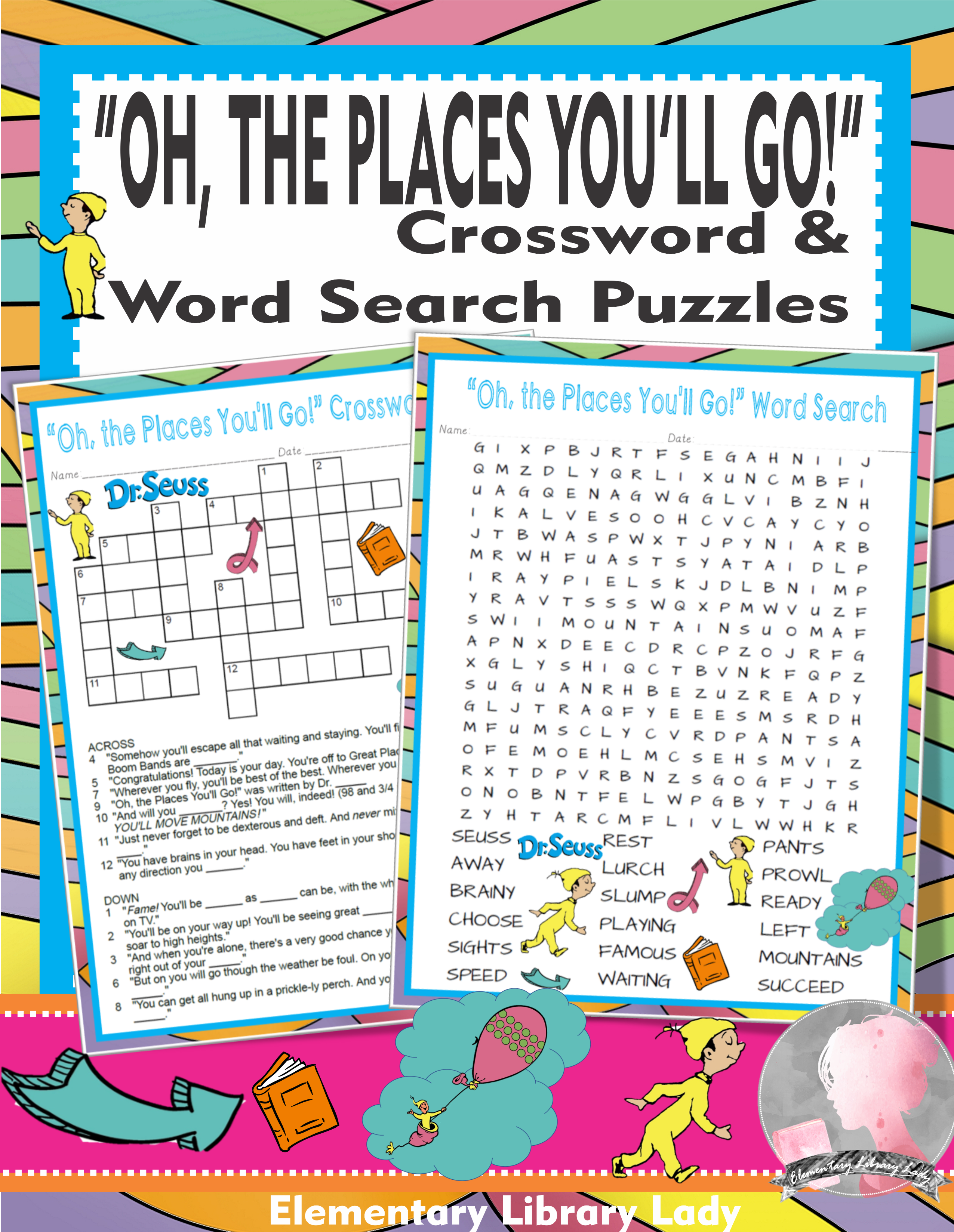 Oh The Places You Ll Go Activities Dr Seuss Crossword