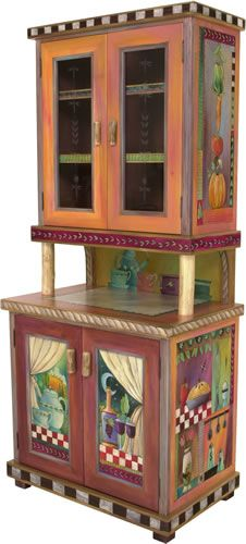 China Hutch...Mmmm....I have the hutch that would look soooo much better painted