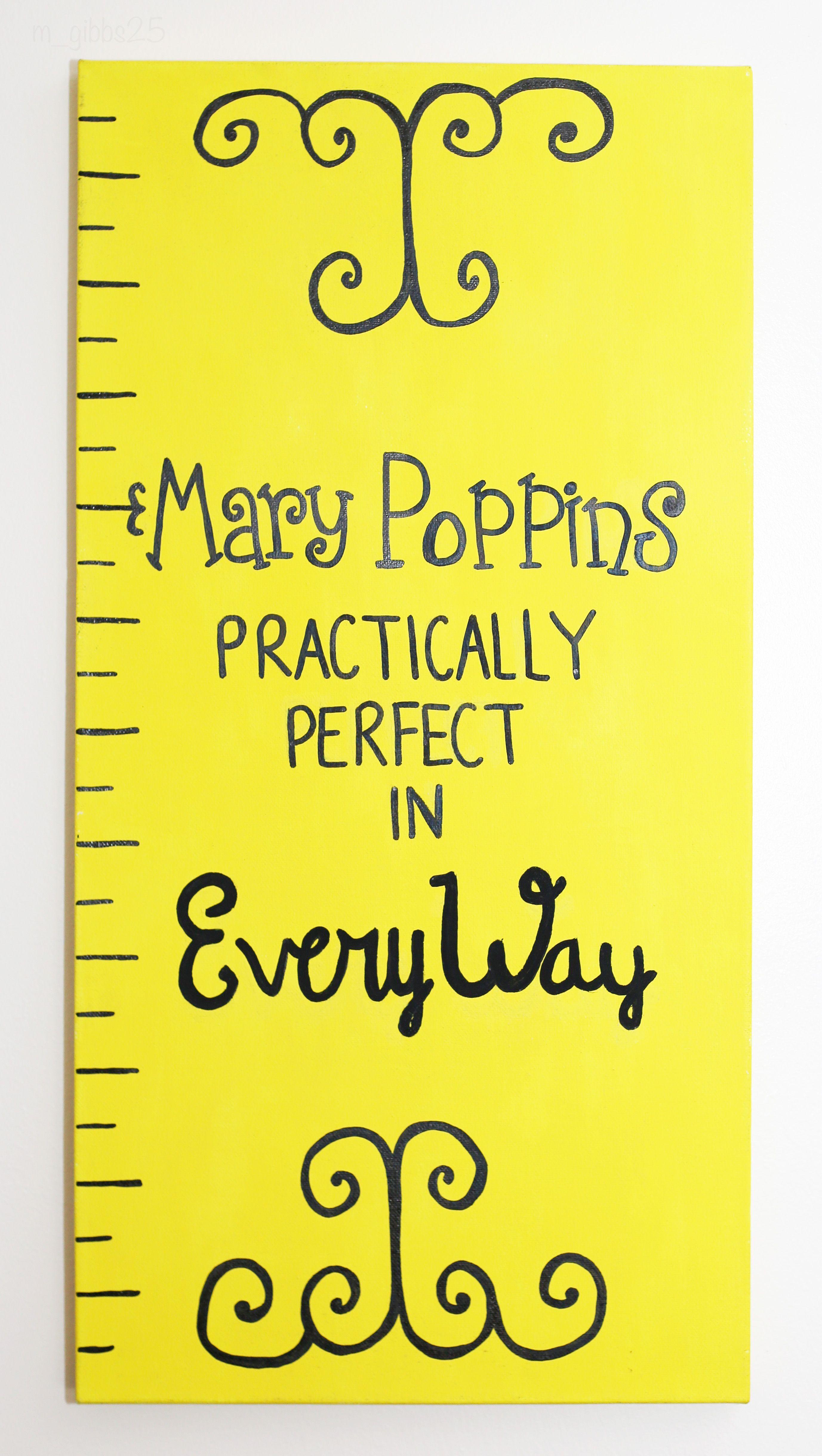 Mary Poppins Wall Decor - Acrylic Paint - Mary Poppins Practically ...