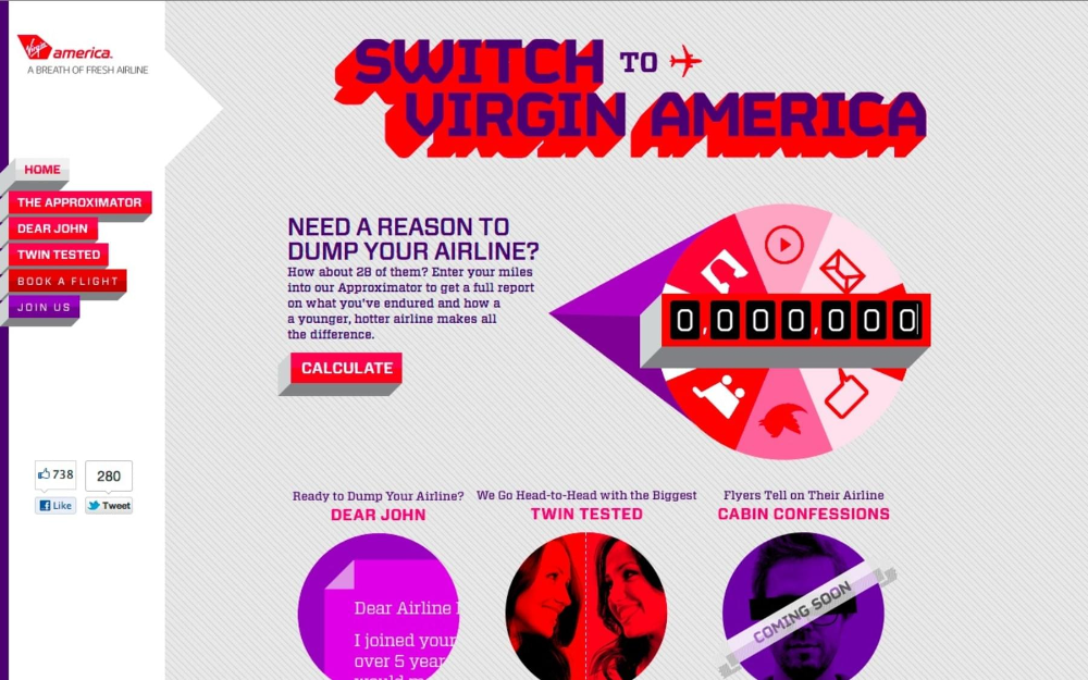 Switch to Virgin America httpster в 2020 г