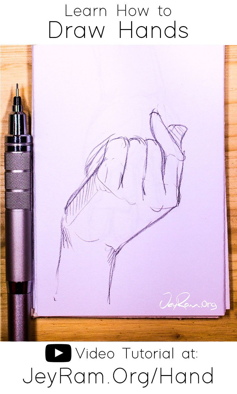 How To Draw Hands Video Tutorial Free Worksheet In 2020 How To Draw Hands Free Hand Drawing Eye Drawing Tutorials