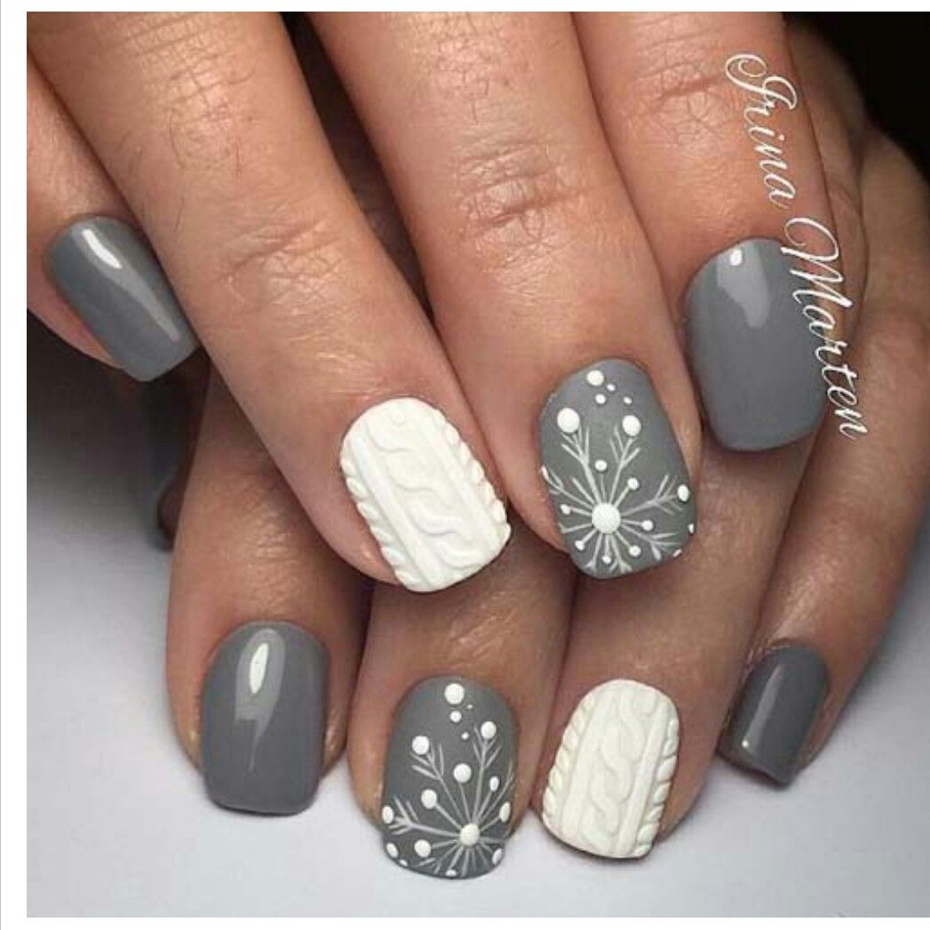 Best Winter Nails for 2017 - 67 Trending Winter Nail Designs - Best Nail Art - Pin By Alexia On Nail Art Pinterest