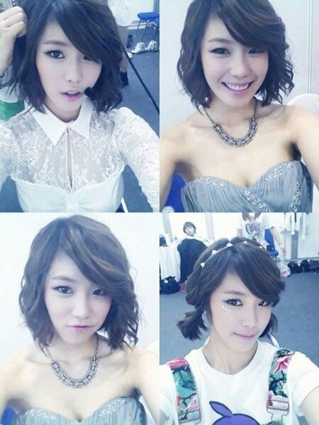 Kpop Hair Cute And Simple Long Enough To Still Curl And Put Up - Curly short hair kpop