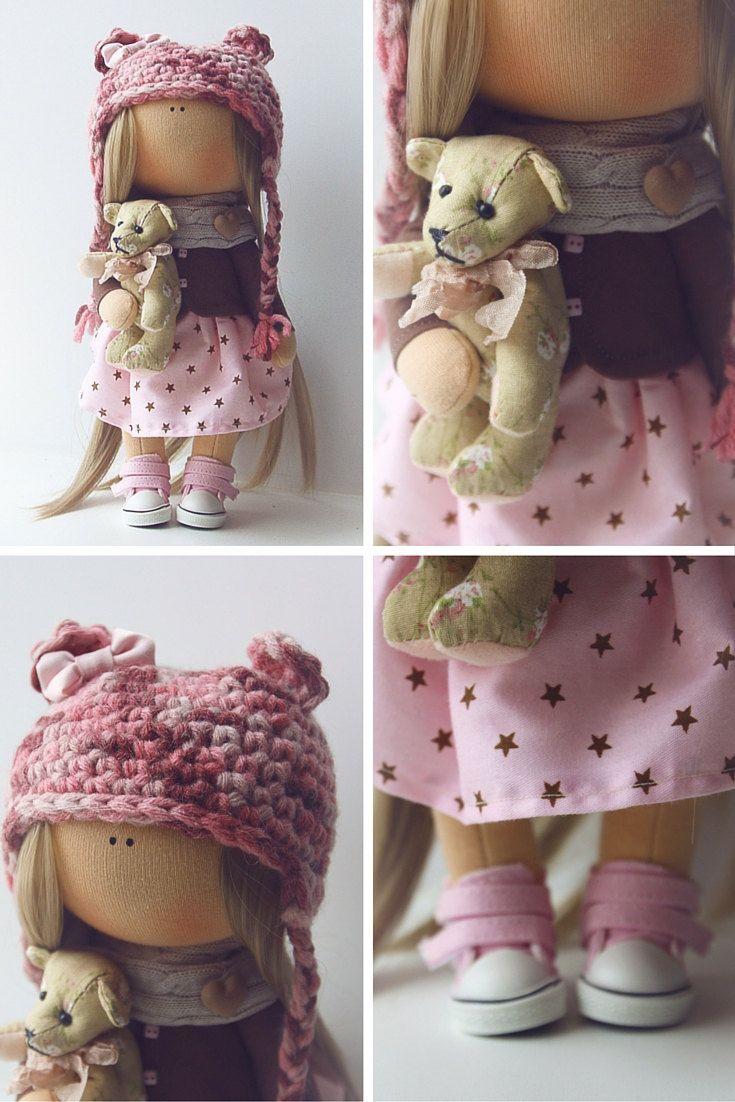Fabric doll tilda doll Art doll handmade by AnnKirillartPlace