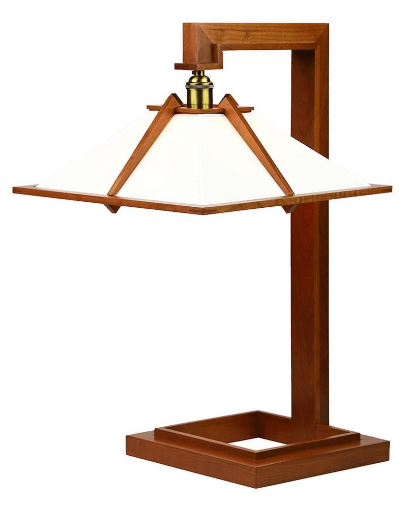 Frank Lloyd Wright Originally Designed The Wooden Table Lamp For Interior Of His Own Home