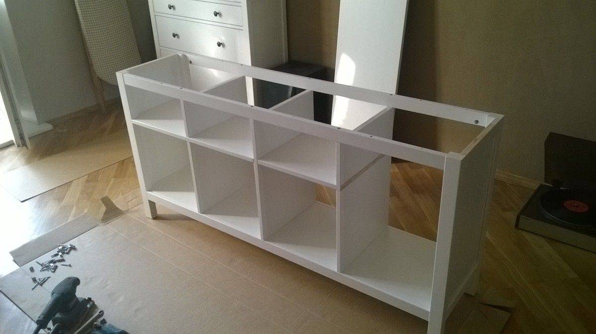 Combining 2 Hemnes Console Tables Into 1 Ikea Hackers Hemnes Console Table Decorating Ikea Hackers