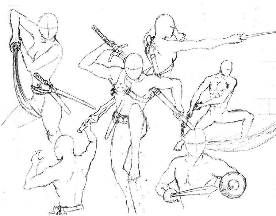 Action Poses 7 Swords By Shinsengumi77 On Deviantart Drawing Reference Poses Drawings Drawing Reference