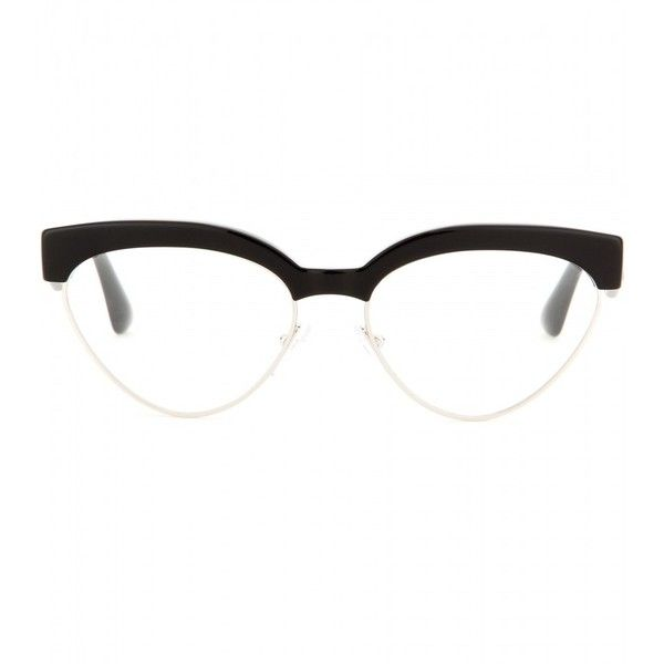 bedeab838ec Prada Cat-Eye Optical Glasses ( 275) ❤ liked on Polyvore featuring  accessories