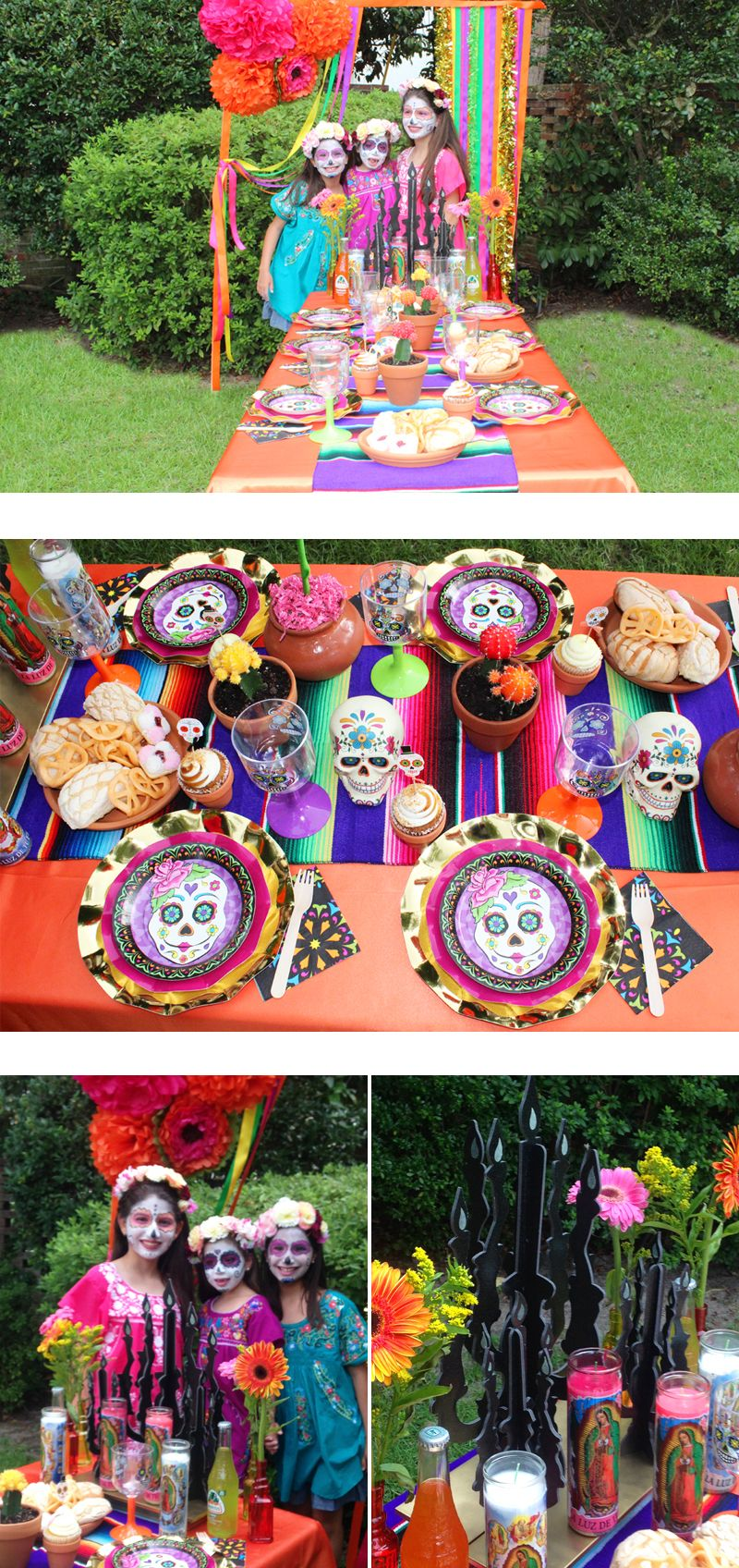 Halloween birthday party decorations - Our Halloween Day Of The Dead Party Has All The Elements You Will Need To Throw A Spooky Party Lots Of Sugar Skull Decorations And Dia De Los Muertos Party
