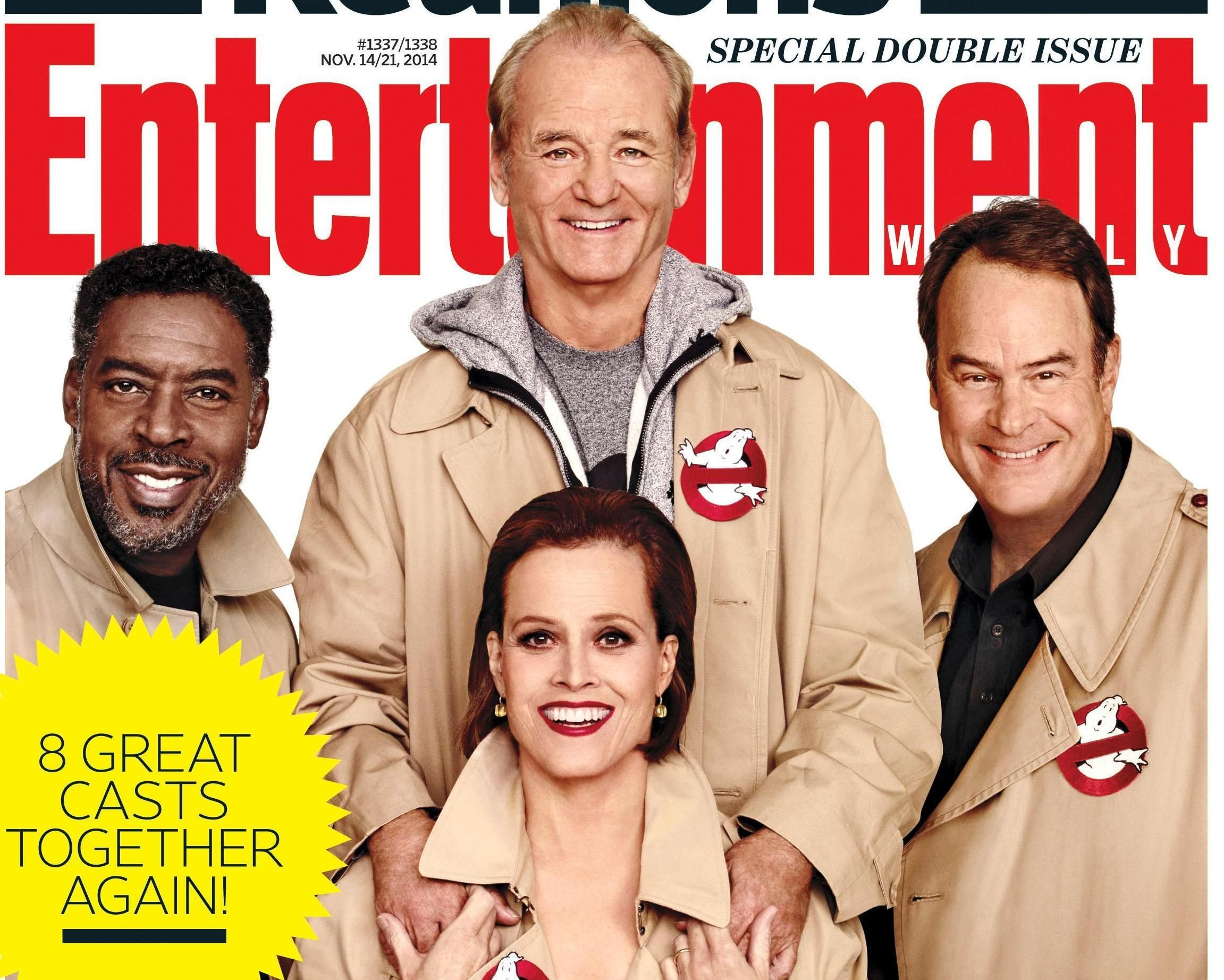 Ghostbusters Stars Reunite On The Cover Of Entertainment Weekly Ghostbusters Ghostbusters Movie Ghostbusters Cast