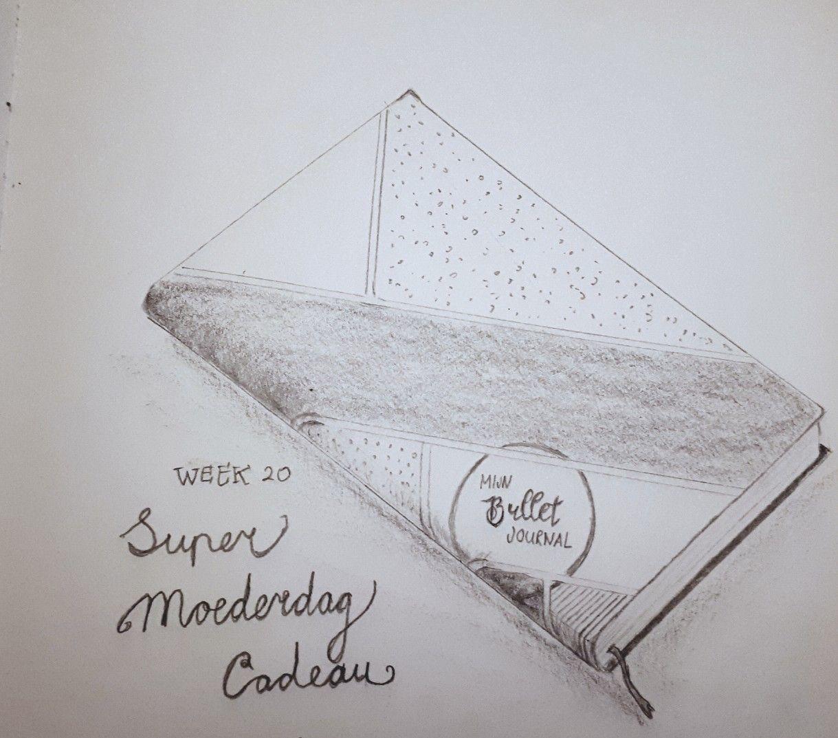 Week 20 Super Moederdag Cadeau Moederdag Potloodtekening