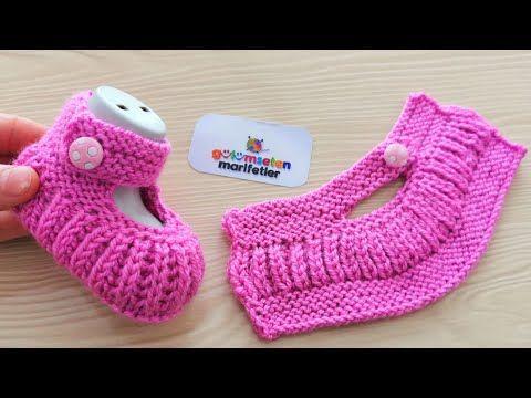 Sehr einfach stricken Baby Booties Modell / New born Baby Booties Proben machen – Y …   – KNITTING WOW.!