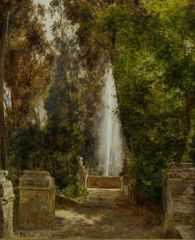 "laclefdescoeurs: ""A fontain at the Villa d'Este in Tivoli, near Rome, 1908, Janus la Cour """