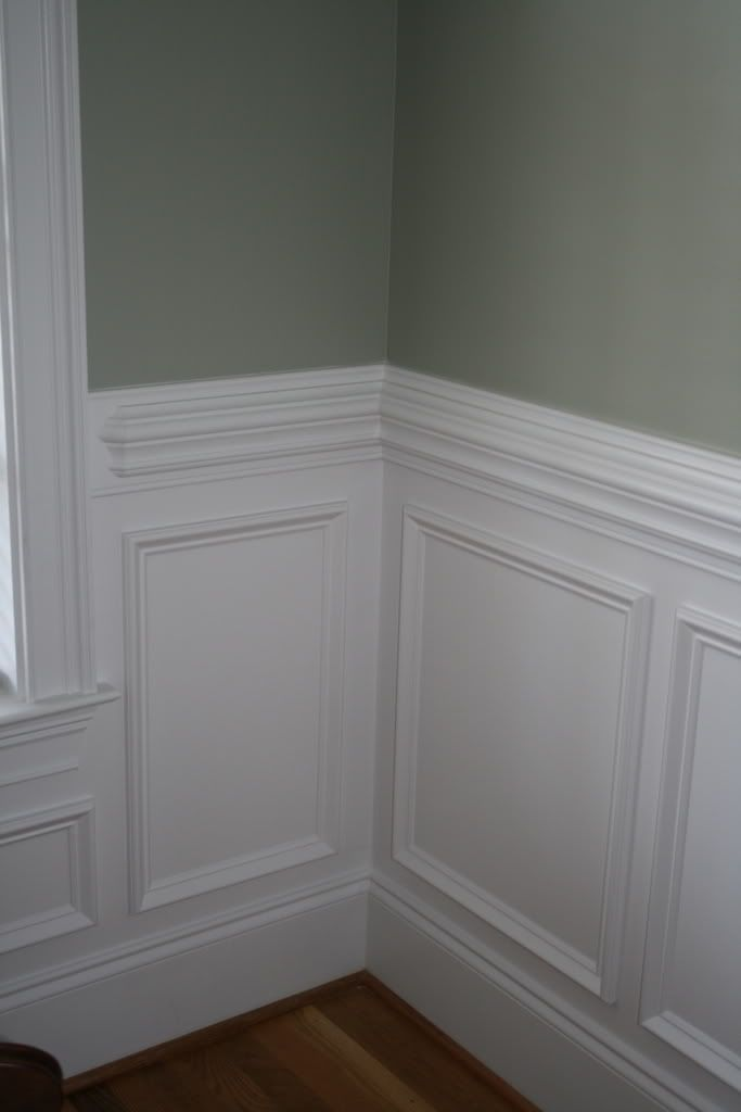 Chair Rail Staircase Part - 43: Beautiful Wall Trim Moulding - Traditional Wainscoting With Contrasting  Wall Color Above The Chair Rail, Via Garden Web ::