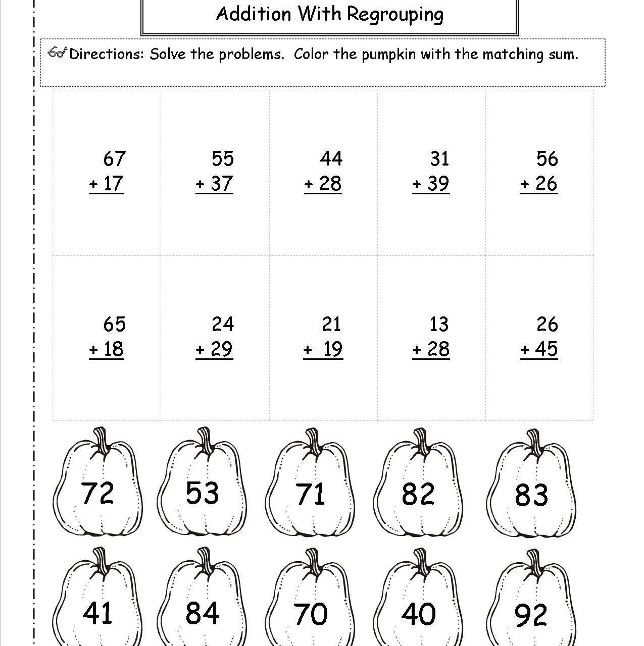 3 Digit Subtraction Coloring Worksheets In With