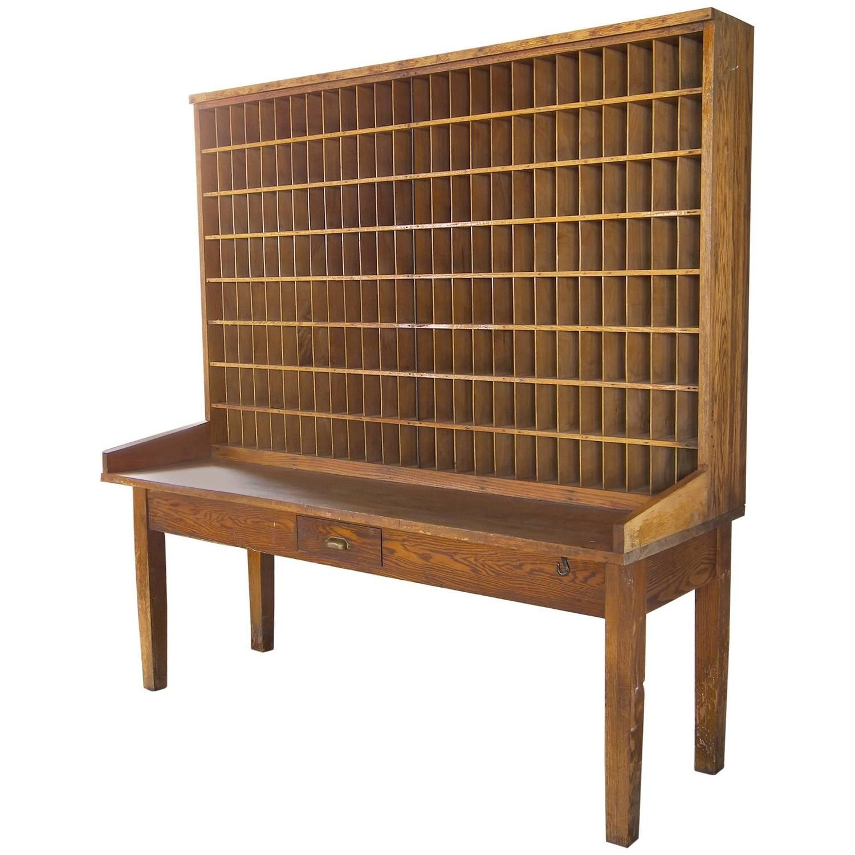 office side table. Antique Industrial Wood Postal Sorting Desk Storage Post Office Side Table Office Side Table U