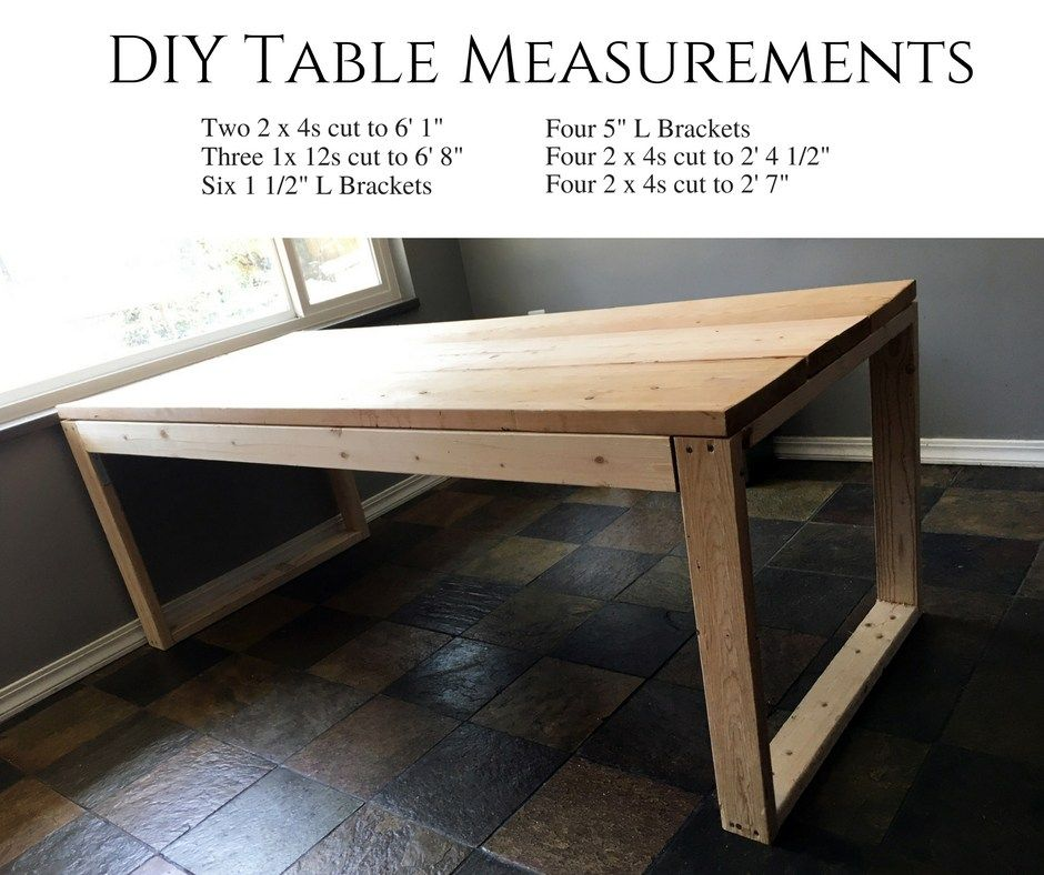 how to build your own kitchen table